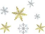 クリスマス飾りの折り紙での雪の結晶と星の作り方